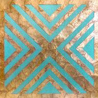 Revestimiento de pared de lujo concha WallFace LU06-5 CAPIZ conjunto de baldosas decorativas hecho a mano con conchas y perlas de vidrio reales óptica de nácar beige turquesa bronce 1 m2