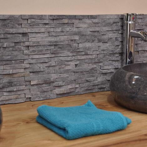 """main image of """"Revestimiento de piedra natural de mármol sin pulir gris negro"""""""