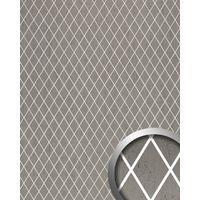Revestimiento mural adhesivo WallFace 18607 TL LINEA diseño mosaico de rombos color platino junturas translúcidas 2,60 m2