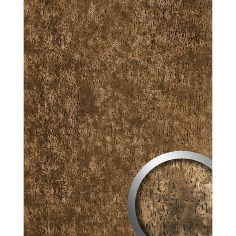 Revestimiento mural antiguo Panel decorativo autoadhesivo WallFace 17233 IMPACT Shabby Chic bronce marrón 2,60 m2