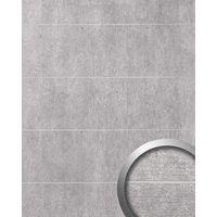Revestimiento mural aspecto cemento WallFace 19103 CEMENT LIGHT 8L hormigón piedra atractivo decoración panel de pared adhesivo gris claro gris 2,60 m2