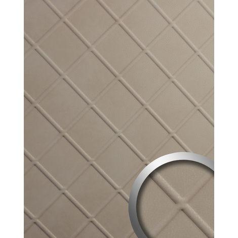 Revestimiento mural aspecto cuero napa WallFace 19766 Antigrav CORD Stony Ground Panel de pared liso de aspecto cuero mate beige 2,6 m2