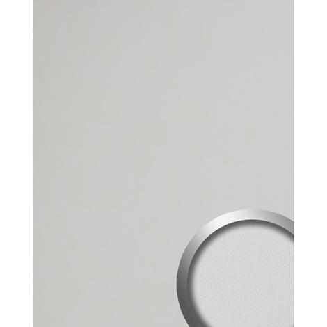 Revestimiento mural aspecto de cuero WallFace 19303 WIMBORNE WHITE Panel de pared liso de aspecto cuero napa mate autoadhesivo blanco blanco-puro 2,6 m2