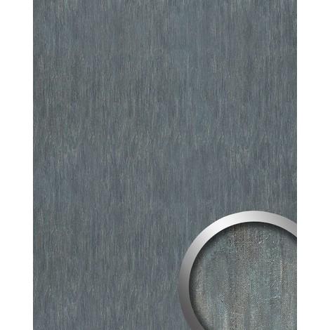 Revestimiento mural Estilo cuero chapa de acero WallFace 17847 OXY STEEL Panel autoadhesivo gris 2,60 m2