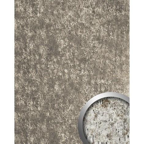 Revestimiento mural Panel decorativo autoadhesivo WallFace 17231 IMPACT Shabby Chic vintage plateado gris 2,60 m2