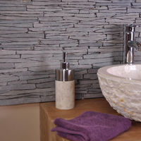 Revestimiento piedra pizarra natural gris