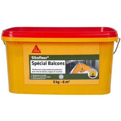 Revêtement acrylique imperméable - SIKA Sikafloor Spécial Balcon - Gris - 5kg