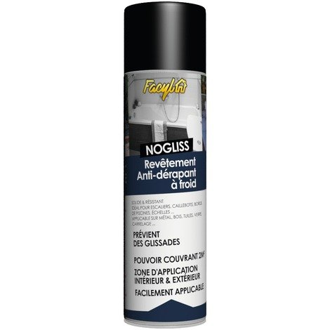 Revêtement antidérapant à froid Nogliss Facyl - Aérosol 400 ml