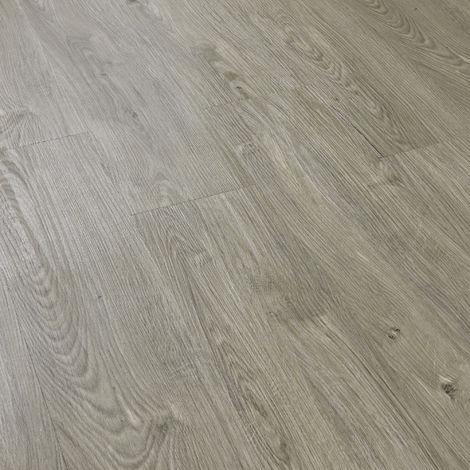 Revêtement de Sol Adhésif Lames Laminées PVC Vinyle Effet Naturel Compatible au Plancher Chauffant 28 Pièces 3,92 m² Chêne Clair Mat