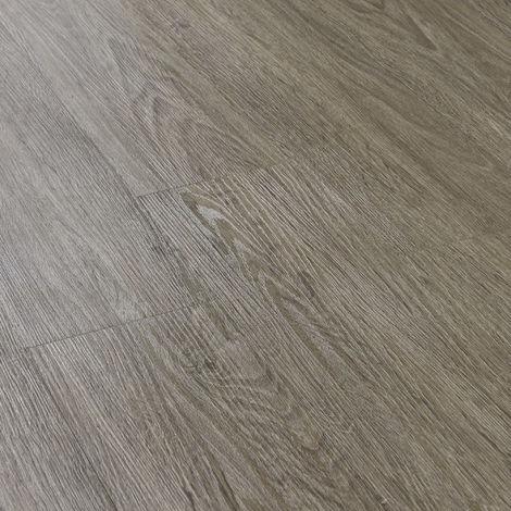 Revêtement de Sol Adhésif Lames Laminées PVC Vinyle Effet Naturel Compatible au Plancher Chauffant 28 Pièces 3,92 m² Chêne Clair Mat Surface Texturée
