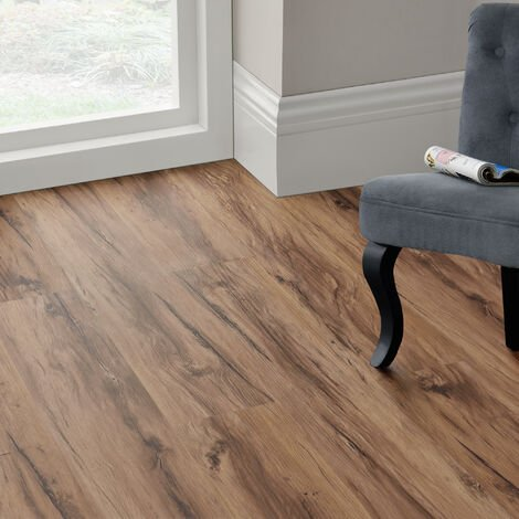 Revêtement de Sol Adhésif Lames Laminées PVC Vinyle Effet Naturel Compatible au Plancher Chauffant 7 Pièces 0,975 m² Classic Warm Oak Chêne Classique