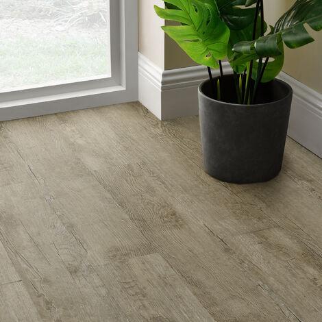 Revêtement de Sol Adhésif Lames Laminées PVC Vinyle Effet Naturel Compatible au Plancher Chauffant 7 Pièces 0,975 m² Traditional Oak Chêne Traditionnel