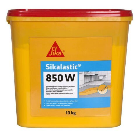 Revêtement d'étanchéité SIKA Sikalastic 850W - 10kg - Jaune paille