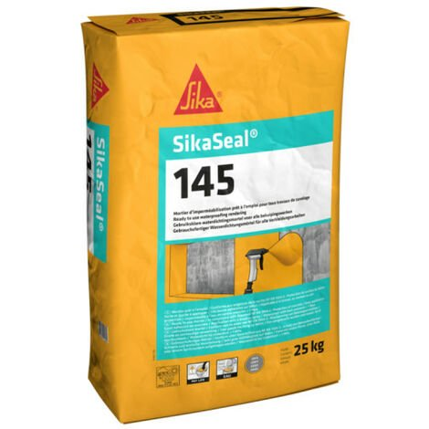 Revêtement d'imperméabilisation SIKA SikaSeal-145 - 25 kg - Gris ciment