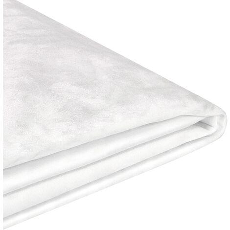 Revêtement en velours blanc pour cadre de lit 160 x 200 cm FITOU