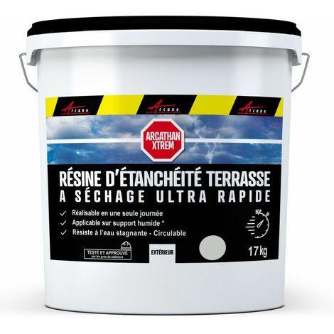 Revêtement Étanchéité Coloré - Résine étanche Terrasse et Toit Plat - Séchage 3H pour application en toute saison - ARCATHAN XTREM - ARCANE INDUSTRIES - Gris - 17 Kg (jusqu'a 11m² pour 2 couches) - Gris
