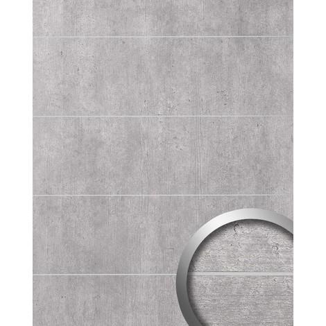 Revêtement mural aspect ciment WallFace 19103 LIGHT 8L ciment béton pierre accroche-regard décor panneau mural autoadhésif gris clair gris 2.60 m2