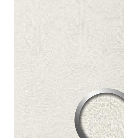 Revêtement mural auto-adhésif Aimantin WallFace 15610 LEGUAN Design Simili cuir peau iguane blanc 2,60 m2
