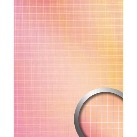Revêtement mural autoadhésif WallFace 18436 M-STYLE HOLLYWOOD Mosaique Aspect miroitant rose orange multicolore 0,96 m2