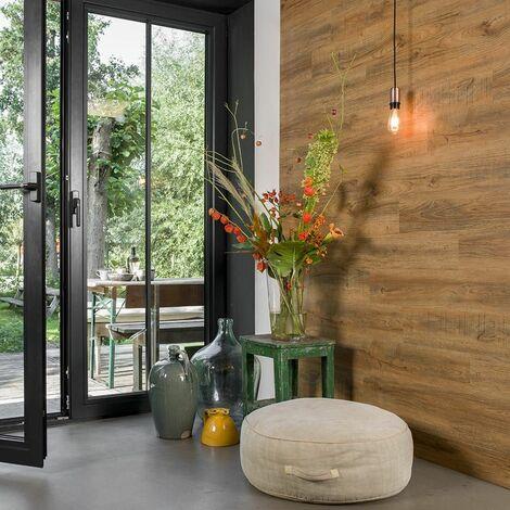 Revêtement mural Imitation bois de Chêne rouille - 15 plaques effet bois - 2,09m²