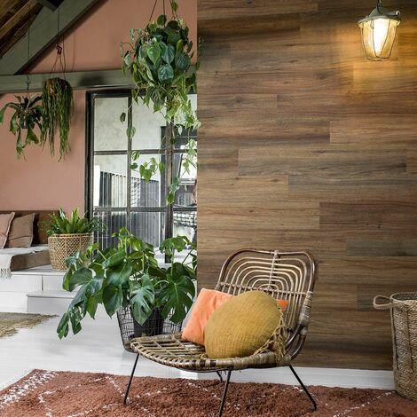 Revêtement mural PVC Chêne foncé brun - 15 planches - 2,09m²