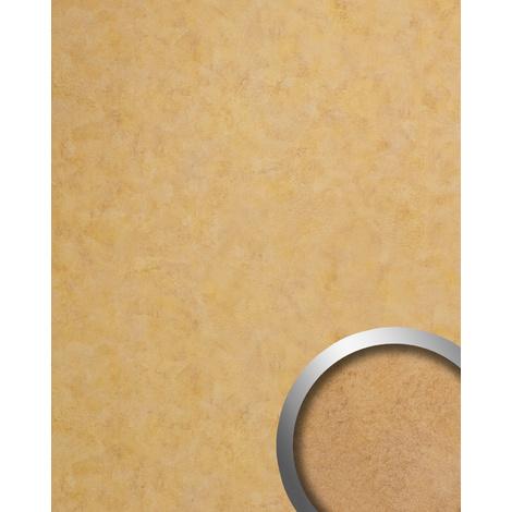 Revêtement mural vintage WallFace 19208 SILENT GOLD Panneau décoratif lisse d'aspect métal brillant auto-adhésif or bronze 2,6 m2