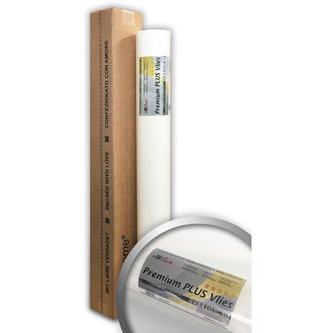 Revêtement murale de rénovation professionnel 160 g Profhome PremiumVlies PLUS 399-165 intissé lisse à peindre Papier peint intissé blanc 1 rouleau 25 m2