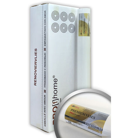 Revêtement non-tissé de lissage 150 g Profhome 399-155 intissé de rénovation surface lisse blanc | 6 rouleaux 150 m2