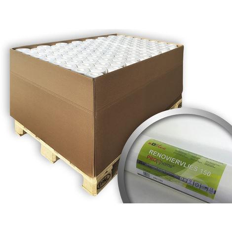 Revêtement non-tissé lisse de rénovation 150 g Profhome 399-150 fibre intissé à peindre 80 rouleaux 1500 m2