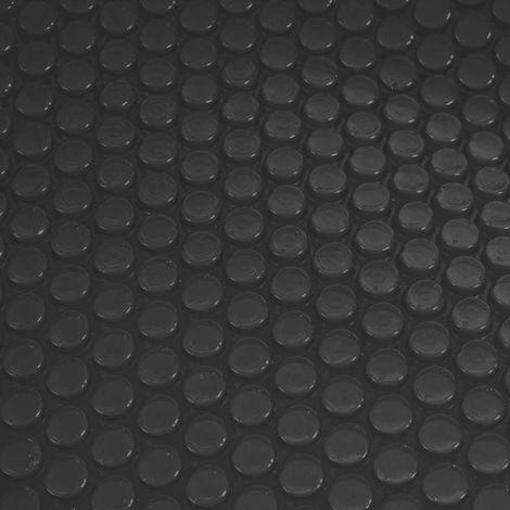 Revêtement pour piscine/pool, bâche thermique, épaisseur: 400 µm ~ ovale 7,31x3,65m, noir
