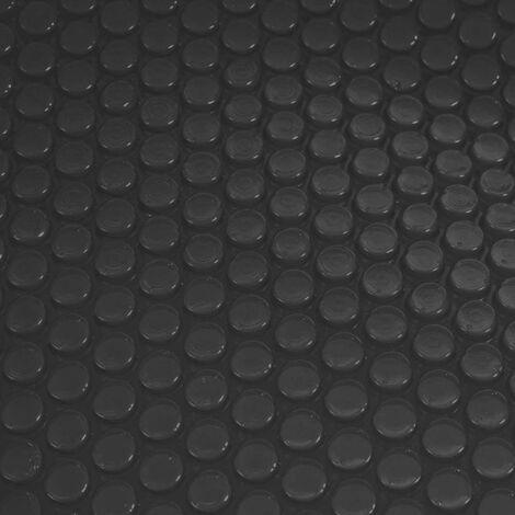 Revêtement pour piscine/pool, bâche thermique/solaire, épaisseur: 200 µm ~ rectangulaire, 8x4 m, noir