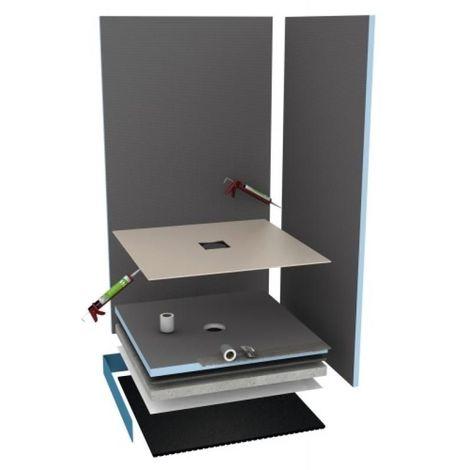 Revêtement prêt à poser Fundo Top pour receveur Primo 900 x 900 mm coloris blanc