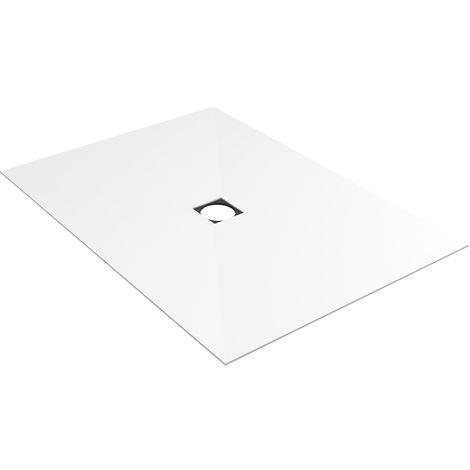 Revetement Wedi blanc Fundo Top écoulement centré 1200x900x6mm