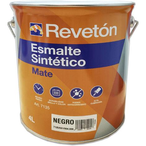 REVETON ESMALTE MATE NEGRO 4 LT