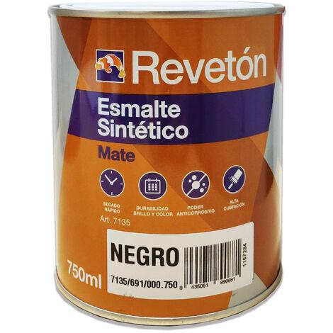 REVETON ESMALTE MATE NEGRO 750 ML