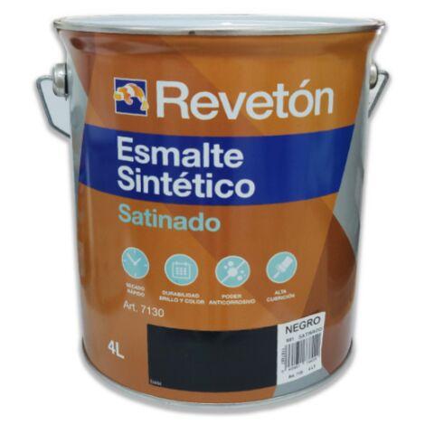 REVETON ESMALTE SATINADO NEGRO 4 LT