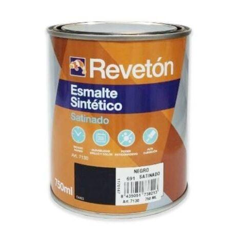 REVETON ESMALTE SATINADO NEGRO 750 ML