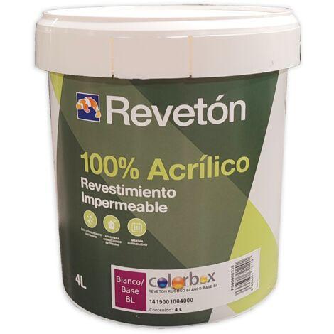 REVETON RUGOSO 100% ACRILICO BLANCO 4 LT
