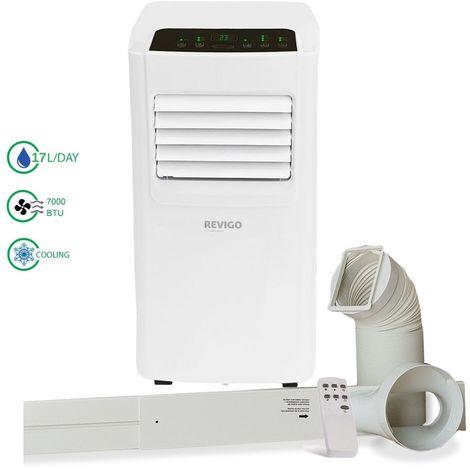 REVIGO Climatiseur mobile 7000 BTU/h avec évacuation extérieure