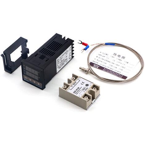 REX-C100FK07-V * AN, controlador de temperatura inteligente, salida SSR + cable SSR-40 DA + M6 1M, juego de 3 piezas