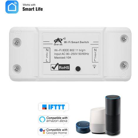 RF Switch Wifi RF de 433 MHz Compatible con Alexa durante interruptor principal de Google 10A 2200W inalambrica / con Tiempos de Funcion mando a distancia para el control de IOS Android / APP