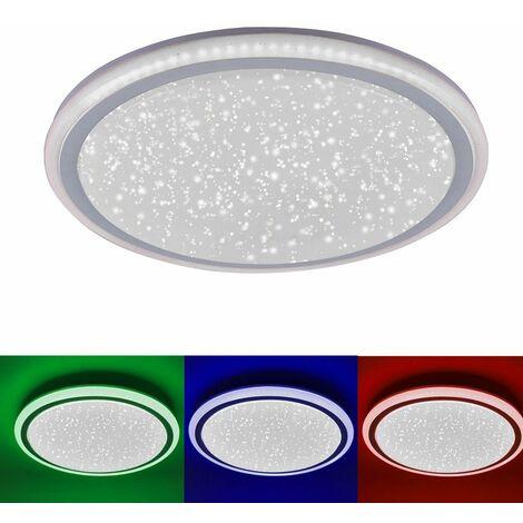 RGB LED 32W Lámpara de techo Pasillo Estrellas Efecto de cielo Proyector remoto Lights Direct 15220-16