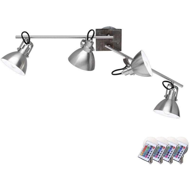Etc-shop - Decken Lampe Fernbedienung Wohn Zimmer Spot Strahler dimmbar im Set inkl. RGB LED Leuchtmittel