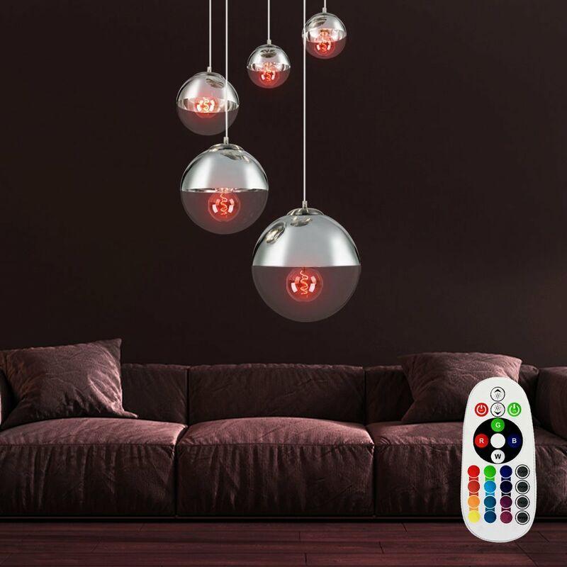 Etc-shop - Decken Leuchte Strahler Wohn Zimmer Fernbedienung Hänge Lampe dimmbar im Set inkl. RGB LED Leuchtmittel