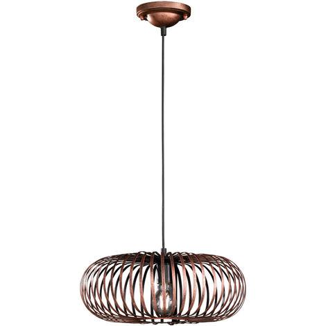 2er Set Retro Hänge Lampe Ess Zimmer Decken Pendel Leuchte Käfig Design Strahler