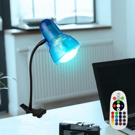 RGB LED Klemmstrahler mit Fernbedienung und Flexoarm