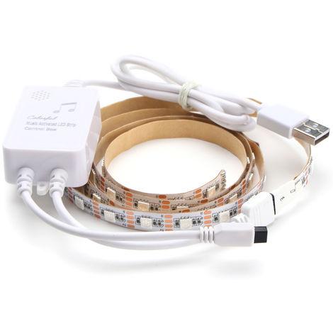 RGB LED light strip music 5050smd not waterproof flexible not waterproof Sasicare