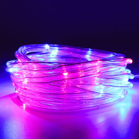 RGB Rope String Light Rope waterproof IP65 Tube Copper Wire Fairy (multicolor, EU Plug 0805 LED)
