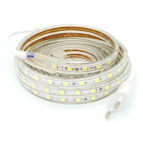RGB Tira LED a 220V CA con Led SMD5050 con 60 LED/m a medida precio x metro COLOR RGB