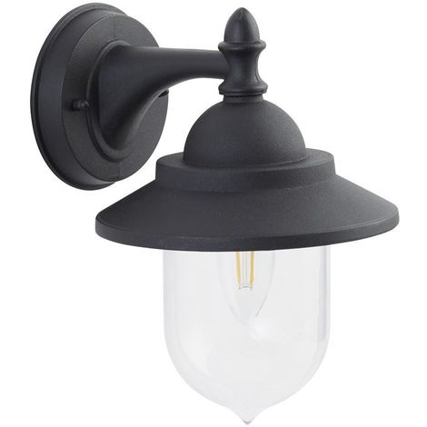 RH1701BK Black IP44 Outdoor Exterior Wall Light Lantern